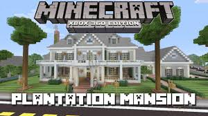 Plantation Style Homes Minecraft Xbox 360 Huge Plantation Mansion House Tours Of