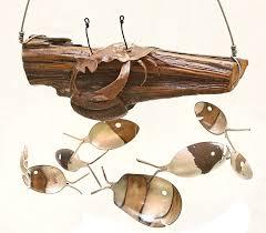 crab décor rustic wind chime costal living cape cod beach
