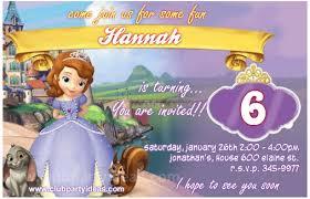 sofia the birthday princess sofia birthday invitations free printing
