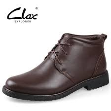 aliexpress com buy clax winter boot men 2017 genuine leather