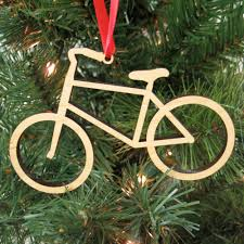 bike wooden christmas ornament boy or graphic spaces