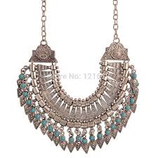 silver boho necklace images Ethnic necklace aliexpress images jpg