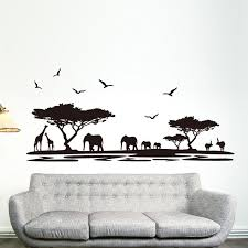 Elephant Room Decor Handpainted 5 Piece Black White Modern Abstract Wall Art Oil