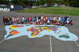 World Map Cuba by World Playground Stencil Set