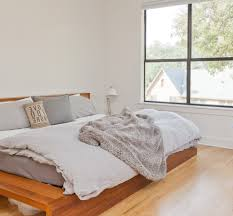 blue gray bedroom bedroom transitional with dark wood ceiling fan