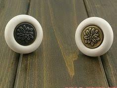 Porcelain Kitchen Cabinet Knobs - oval white gold dresser drawer knobs pulls handles kitchen cabinet