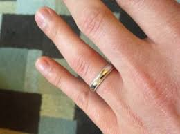 my wedding band does this 4mm wedding band look narrow on my finger