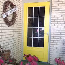 valspar chickadee yellow storm door i u0027d like this for the back