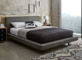 diaz grey faux leather bed frame leather grey and leather bed