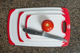 dishwasher safe kitchen knives amazon com cc boards 3 piece nonslip cutting board set red and