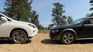lexus rx 350 year 2012 2013 audi allroad vs lexus rx 350 off road mashup drive u0026 review