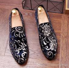 wedding shoes europe 2018 promotion new men velvet loafers party wedding shoes