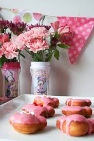 a pink donut themed minnie mouse baby shower salty canary