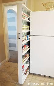diy hidden storage canned food storage cabinet food storage