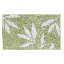 bathroom accent rugs amazon com interdesign microfiber leaves bathroom shower accent rug