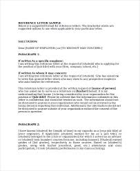 reference letter layout template examples
