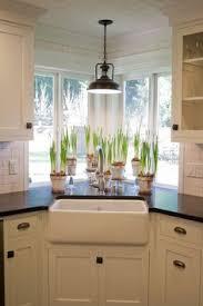 Modern Farmhouse Inspired Kitchen Modern Farmhouse Kitchens - Kitchen design with corner sink