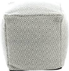 pouf ottoman wool knit square cream ottoman pouf round pouf