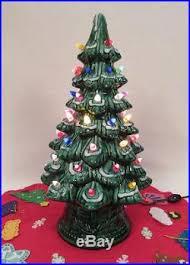 1960 s christmas tree lights 1960s california mold ceramic light up christmas tree with skirt flocked