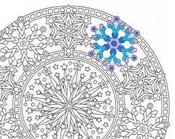 christmas mandala coloring christmas eve printable