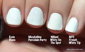 glitter obsession battle of the white polish