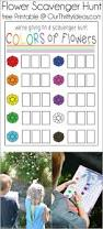 flower scavenger hunt free printable game our thrifty ideas