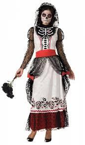 Dia De Los Muertos Costumes Dia De Los Muertos Costumes For Women Skeleton Bride Deluxe Dia