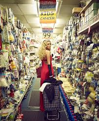 petra ecclestone shops at 99p store in red gown and tiara for tk