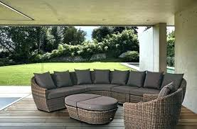 Rattan Curved Sofa Curved Outdoor Sofas Curved Wicker Rattan Patio Furniture Set With
