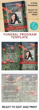 where to print funeral programs poppies printable funeral program ready to edit print simply