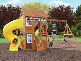cedar summit richmond lodge wooden play swing set u0026 reviews wayfair