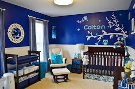 blue and white nursery bedroom design for a boy kidsomania