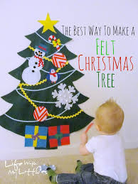 the best way to make a felt christmas tree