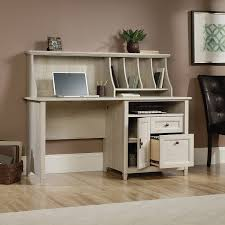 Computer Hutch Desk With Doors Amazon Com Sauder Edge Water Computer Desk With Hutch In Chalked
