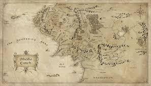 map of the lord of the rings lord of the rings map middle earth major tourist