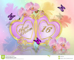 Sweet 16 Invitations Cards Sweet 16 Invitation Graphic Stock Photos Image 19384253