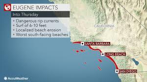 Map Of Long Beach California Eugene To Create Dangerous Surf Along Southern California Beaches