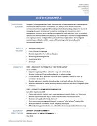 chef resume template chef sle resume templates best of cv cover letter