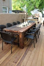 the 25 best wooden outdoor table ideas on pinterest patio