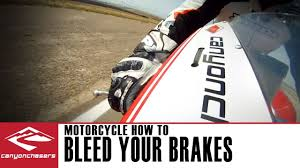 how to bleed brakes on a motorcycle with abs or after installing