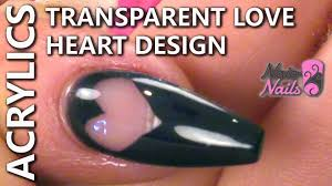 how to create a transparent love heart design youtube