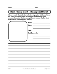 black history month biographical sketch form by claudette upshur