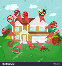 pest control concept insects exterminator silhouette stock vector