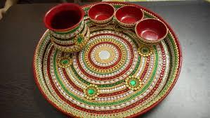 decorative pooja thali 2 youtube