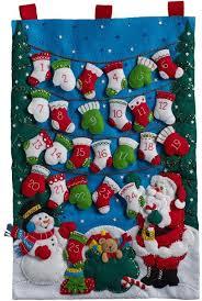 bucilla felt kits bucilla mittens and advent calendar felt applique kit