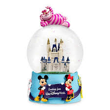 musical snow globe cinderella castle mickey mouse and friends