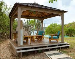minimalist grey nuance modern backyard patio designs with wooden