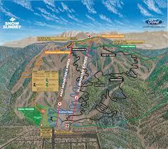 Map Of California Adventure Trail Map Big Bear Mountain Resort