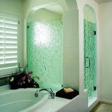 etched glass shower door designs behind the green glass door