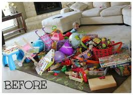 Storing Toys In Living Room - how to declutter toys with the konmari method